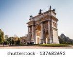 Arch Of Peace In Sempione Park...
