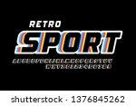 retro sport style font design ... | Shutterstock .eps vector #1376845262