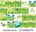 vector nature eco backgrounds... | Shutterstock .eps vector #1376888078