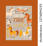 Horse vector animal of horse-breeding or equestrian and horsey equine stallion illustration backdrop animalistic horsy set of horsed animal character background.