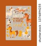 horse vector animal of horse... | Shutterstock .eps vector #1376894255