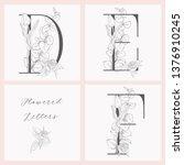 vector hand drawn flowered... | Shutterstock .eps vector #1376910245