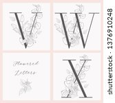 vector hand drawn flowered... | Shutterstock .eps vector #1376910248