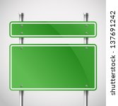 blank green metal boards.... | Shutterstock .eps vector #137691242
