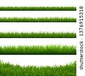 green grass big borders... | Shutterstock .eps vector #1376915318