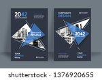 corporate book cover design...   Shutterstock .eps vector #1376920655