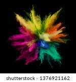 explosion of colored powder... | Shutterstock . vector #1376921162