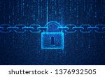 concept of cyber security ... | Shutterstock .eps vector #1376932505