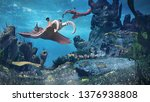 creatures of the cambrian... | Shutterstock . vector #1376938808