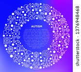 autism concept in circle ... | Shutterstock .eps vector #1376948468
