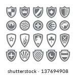 abstract victorian arms on... | Shutterstock .eps vector #137694908