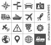 transportation icons. vector...   Shutterstock .eps vector #137694995