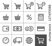 shopping icon set. vector... | Shutterstock .eps vector #137695088