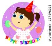 birthday girl | Shutterstock .eps vector #137696315