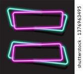 vector of neon banner design. | Shutterstock .eps vector #1376963495