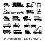 various truck silhouettes  ... | Shutterstock .eps vector #1376970242