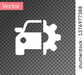 white car service icon isolated ... | Shutterstock .eps vector #1376977388