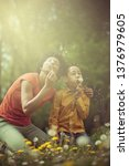 special bond between son and... | Shutterstock . vector #1376979605
