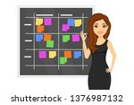 business concept. a young... | Shutterstock .eps vector #1376987132