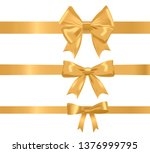 gold realistic different ribbon ... | Shutterstock .eps vector #1376999795