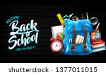welcome back to school are you... | Shutterstock .eps vector #1377011015