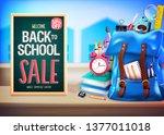 welcome back to school sale up... | Shutterstock .eps vector #1377011018