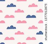 clouds seamless vector pattern... | Shutterstock .eps vector #1377012875