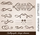 calligraphic design elements... | Shutterstock .eps vector #137701322