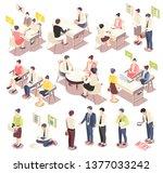 employment and recruitment... | Shutterstock .eps vector #1377033242