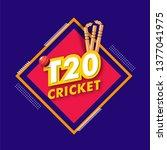 t20 cricket tournament poster... | Shutterstock .eps vector #1377041975