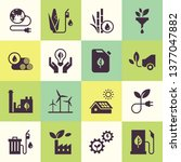 set of eco vector icons in flat ... | Shutterstock .eps vector #1377047882