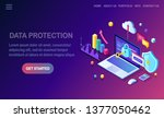data protection. internet... | Shutterstock .eps vector #1377050462