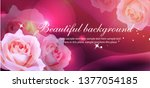 stylish floral background... | Shutterstock .eps vector #1377054185