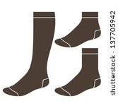 set of socks | Shutterstock .eps vector #137705942