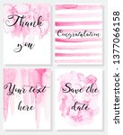set of hand painted cards....   Shutterstock .eps vector #1377066158
