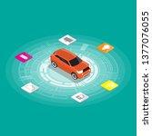 isometric design of driverless...   Shutterstock .eps vector #1377076055