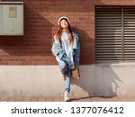 street photography of a cute... | Shutterstock . vector #1377076412
