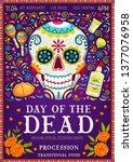 dia de los muertos mexican... | Shutterstock .eps vector #1377076958
