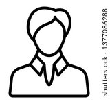 male avatar  man line icon  | Shutterstock .eps vector #1377086288