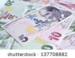 Money Background  Turkish Lira
