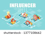 influencer concept. vector web... | Shutterstock .eps vector #1377108662