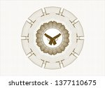 brown money style emblem or... | Shutterstock .eps vector #1377110675