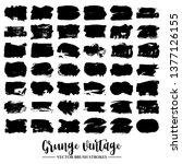 set of black brush stroke and...   Shutterstock .eps vector #1377126155