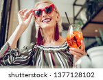 beautiful accessory. delighted... | Shutterstock . vector #1377128102
