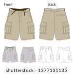 vector illustration of half... | Shutterstock .eps vector #1377131135