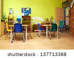 montessori kindergarten... | Shutterstock . vector #137713388