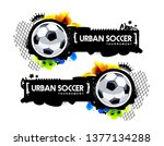 two horizontal banner with... | Shutterstock .eps vector #1377134288