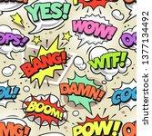 retro comic speech bubbles with ...   Shutterstock .eps vector #1377134492