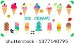 a set of fourteen cute kawaii...   Shutterstock .eps vector #1377140795