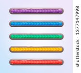 set of five game resource bar...